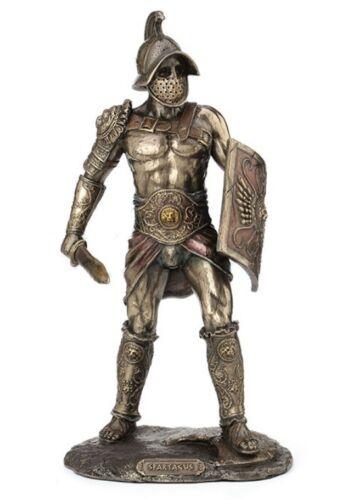 """10.25"""" Murmillo Gladiator Spartacus Wielding Scutum & Gladius Statue Sculpture"""