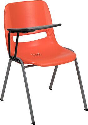 Orange Ergonomic School Chair Wright Handed Flip-up Tablet Arm - Classroom Desk