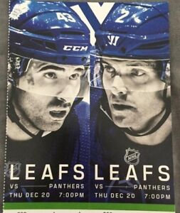 Toronto Maple Leafs vs Florida Panthers (2 pairs)