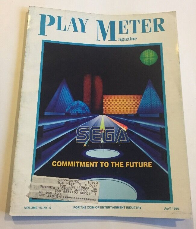 Play Meter Magazine April 1990 Volume 16, No. 5. SEGA commitment To The Future