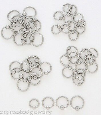 Surgical Steel Captive Bead Ring 14g  1/4