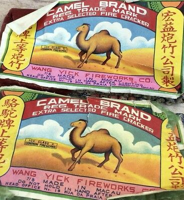 Vintage CAMEL Brand Firecrackers Wang Yick - Made in China Labels