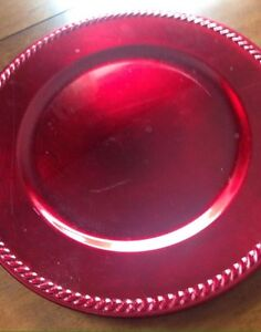 Red Charger Plates for weddings