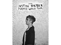 Justin Bieber Purpose Tour Tickets x 2 - 12th October London 02