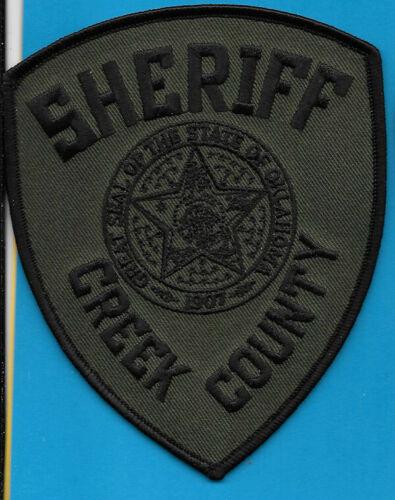 CREEK COUNTY OKLAHOMA OK SHERIFF DEPT CC SO SD GREEN BLACK (FIRE)
