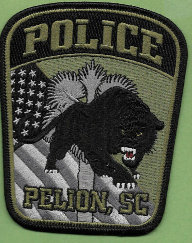 PELION SC SOUTH CAROLINA POLICE GREEN PATCH FLAG TREE BLACK PANTHER PPD PD SUB