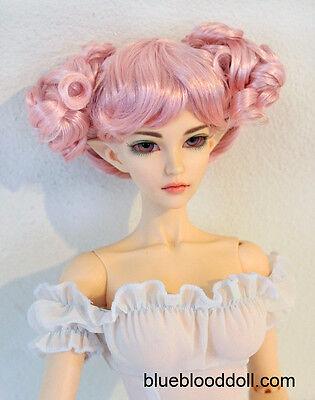 "1/3 bjd 9-10"" doll head pink buns style wig Soom Feeple Loongsoul Pullip ship US"