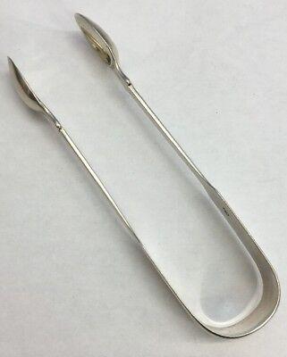 Antique Solid Silver Sugar Tongs Richard Poulden 1825