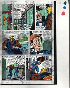 1990-Avengers-325-page-4-Marvel-Comics-original-color-guide-art-Captain-America