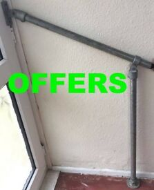 DISABILITY HOUSE HOME GALVANISED WOOD RAILS POLES DISABLE HAND HELP GARDEN PORCH
