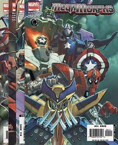 MEGA-MORPHS-1-2-3-4-Marvel-Comics-Spider-Man-Wolverine-Hulk-Avengers-COMPLETE