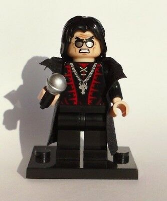 LEGO ROCKER HEAVY METAL OZZY OSBOURNE  microphone  CUSTOM trench coat ROCK STAR  - Rock Star Microphone