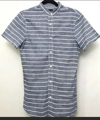 Armani Exchange men's button front short sleeve XS