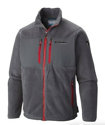 New Mens Columbia  Black Ridge  Titanium Water Resistant Fleece Jacket L Xl Xxl