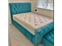 Quality plush velvet beds with mattress