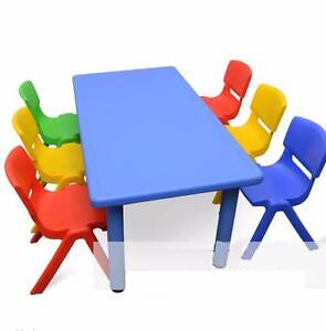 Large Kids Toddler Children Activity Table and 6 Chair Hire Ryde Ryde Area Preview