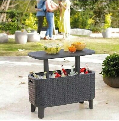 Keter Cool Box 60l (63 US Quart) Bevvy Bar Drinks Cooler Party Garden Table