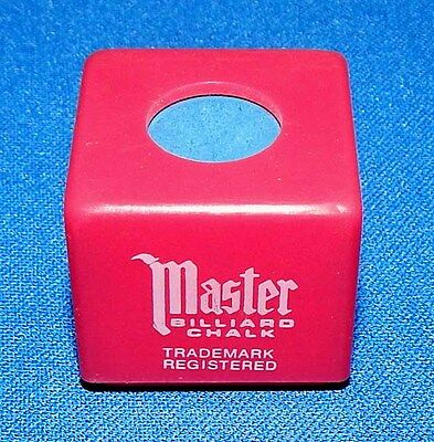Master Personal Cue Chalk Holder With Blue Chalk - Free Shipping - Chalk Holders