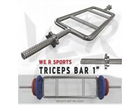 """Brand new boxed We R Sports Triceps Bar (spin collars 1"""" bar)"""
