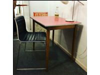 1960s Formica Table - Red