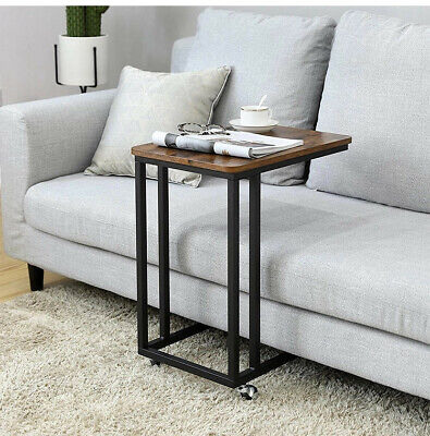 C-Shaped Side Sofa End Table Snack TV Bed Tray Under Couch Table F Coffee Laptop