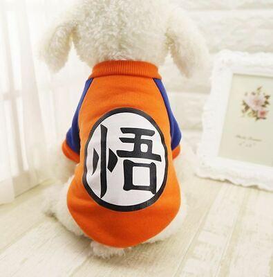 Small Dog Pet Clothes Dragon Ball Goku Sweater T-Shirts Warm Apparel Costume Dog (Dragon Costume Dog)