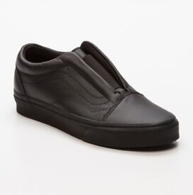 Mens VANS designer luxury leather black trainers Shoe - Available in UK size 10/EU 44.5 only