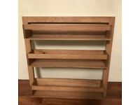 Wren kitchen wooden shelf oak