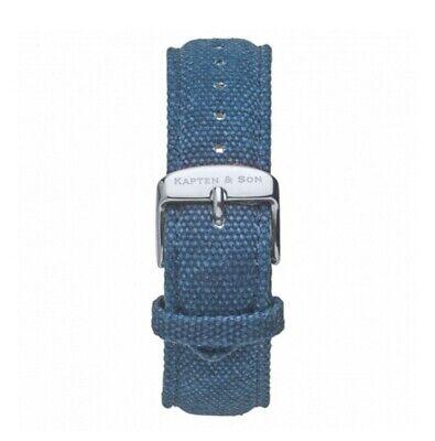 Kapten & Son Blue Canvas Watch Strap