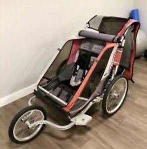 Chariot stroller with bike attachments