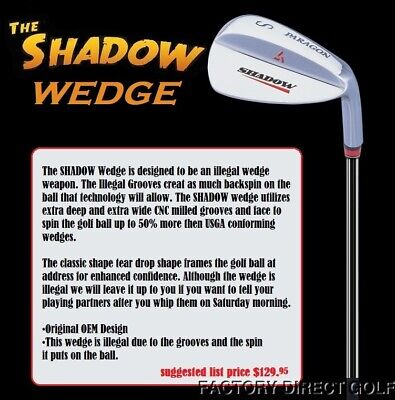 Shadow Super Spin 56° Sandwedge iLLEGAL GROOVE Extra SPINNER SW Wedge