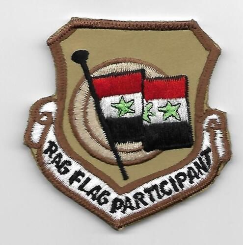 USAF RAG FLAG PARTICIPANT sw asia theater made patch