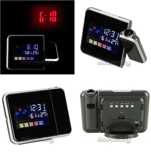 Projection Digital Weather LCD Snooze Alarm Clock ...