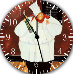 Fat Chef Frameless Borderless Wall Clock E43 Nice For Gifts or Home Decor