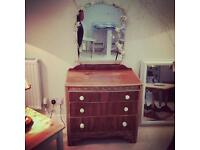 Cute vintage dressing table chest of drawers