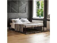 Stunning Dorset Double Bed Black Metal frame