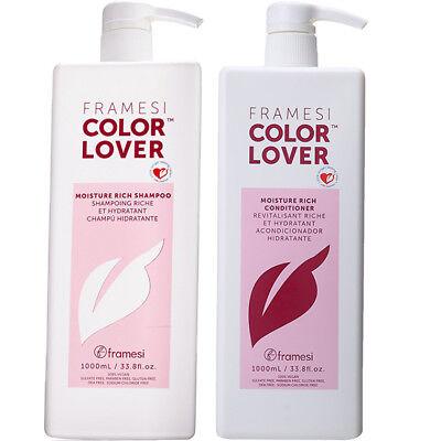 FRAMESI Color Lover Moisture Rich Shampoo & Conditioner 33.8 fl oz duo
