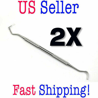 2x Pro-quality Dental Pick Tarter Scraper Stainless Steel Plaque Removers