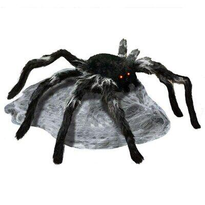 2 ANIMATED JUMPING BLACK SPIDER SPIRIT HALLOWEEN PROP