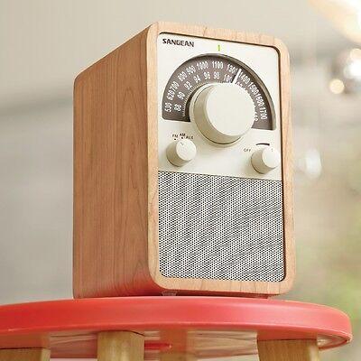 Sangean WR-15WL AM/FM Table Top Wooden Cabinet Receiver Radio in Walnut New