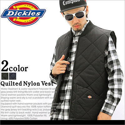 Dickies TE242 Diamond Quilted Nylon Vest Black/Navy Blue, M-3XL *Free US Ship* ()