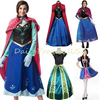 Adult Anna Winter & Coronation Dress High Quality Halloween Costume PXS-PXXL USA