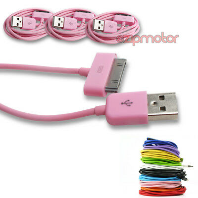 3X 6FT USB TO 30PIN PINK CABLE DATA SYNC CHARGER SAMSUNG GALAXY TAB P3100 P3110 for sale  Shipping to India