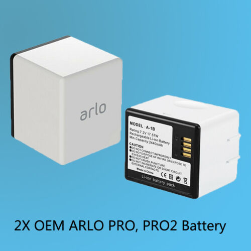 2× Genuine Extra Rechargeable Battery for ARLO PRO, PRO 2, LIGHT Camera VMA4400