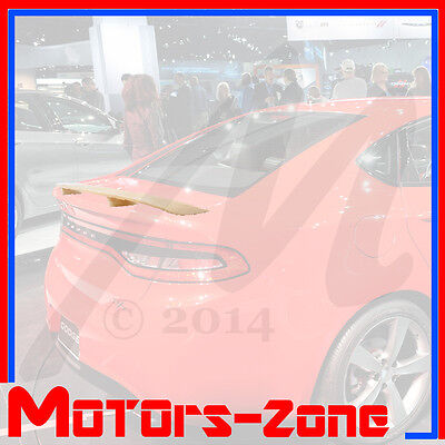 For 13-16 Dodge Dart UNPAINTED Base Color Rear Trunk Wing Spoiler OE Style
