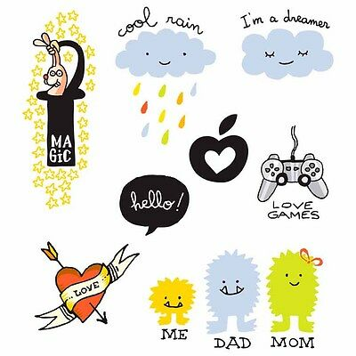 os Temporary Tattoo 10 er pack FAMILY für Kinder cool NEU (Coole Kinder Tattoos)