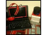 Tablet keyboard speaker