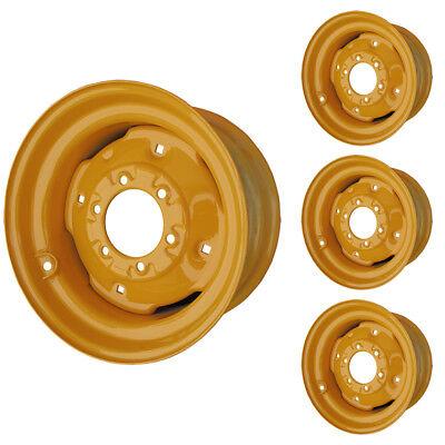 Set Of 4 - 6 Lug Case 1830 Skid Steer Wheels 8.25x16.5 Fit 10x16.5 Tires