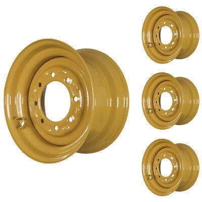 Set Of 4 - 8 Lug Case 85xt Skid Steer Wheels 9.75x16.5 Fit 12x16.5 Tires