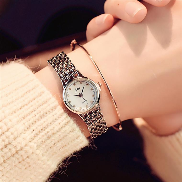 Luxury Fashion Ladies Women's Watches Stainless Steel Quartz Analog Wrist Watch